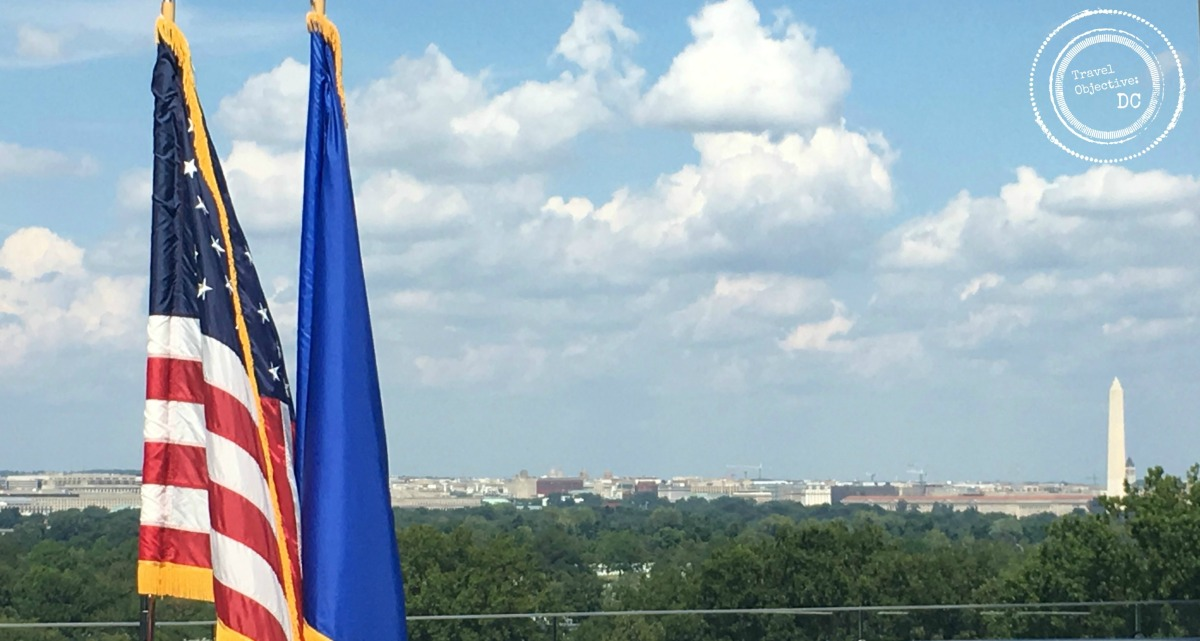 View with flags 2