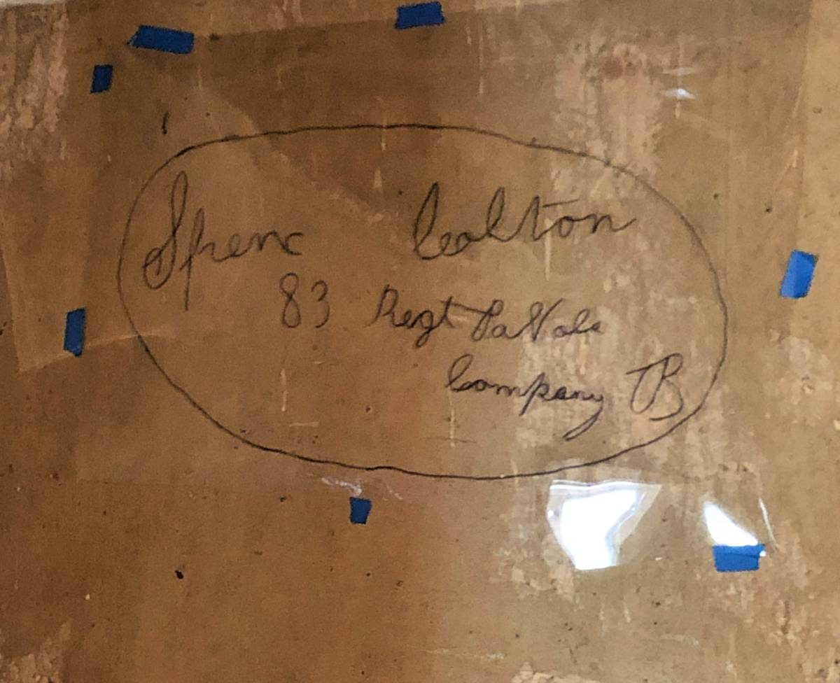 Civil War soldier signature on the wall at Historic Blenheim   Fairfax VA   Travel Objective DC   83rd Pennsylvania Volunteers