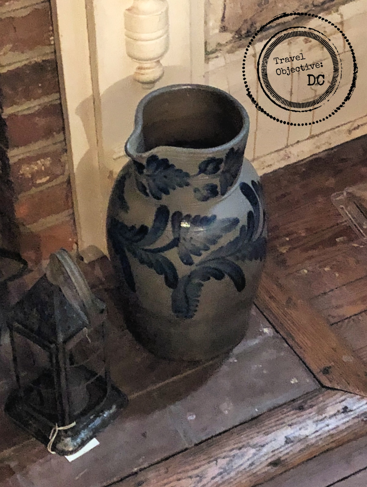 Vase on display from Historic Blenheim Civil War site in Fairfax Virginia