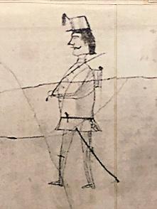 Northern Virginia Civil War Graffiti Trail | Historic Blenheim | Drawing of a soldier by a Civil War soldier